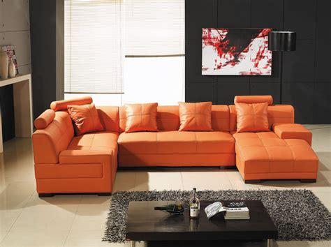 canape d angle orange deco in canape d angle capitonne cuir orange