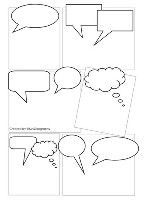 comic strip template  mrsgeography teaching resources