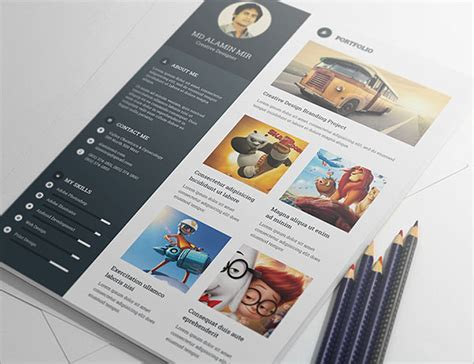 Graphics Designer Resume Psd by 20 Best Free Resume Cv Templates In Ai Indesign Psd
