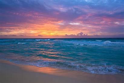 Ocean Sunrise Sea Sand Waves Surf Desktop