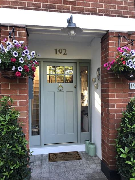 farrow ball inspiration love  color   red brick brick house front door colors