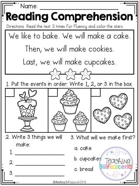 Free Kindergarten Reading Comprehension (set 3)  1st Grade Reading Comprehension Passages