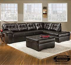 view simmons 174 faux leather manhattan 2 piece sectional