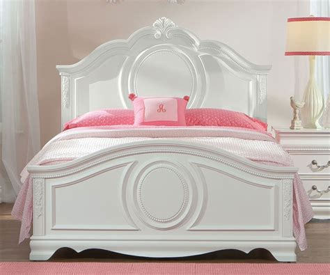 jessica full panel bed  girls  standard furniture