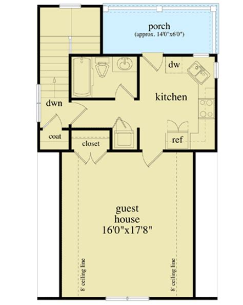 guest house floor plans detached guest house plan 29852rl 2nd floor master