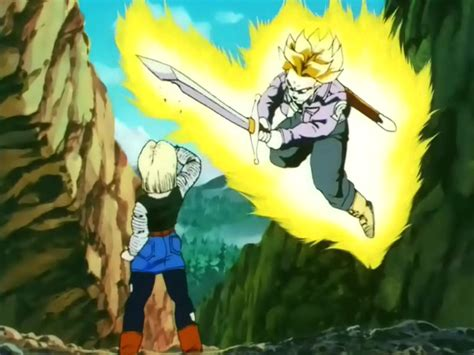 trunks vs androids trunks vs android 18 dreager1 s
