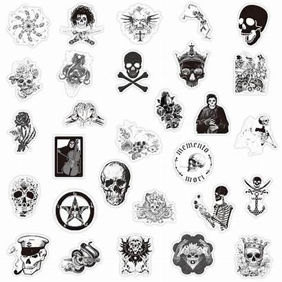 Stickers Skull Pcs Gothi Graffiti Sticker Gifts