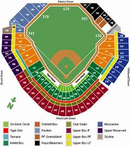 Comerica Park Seating Chart  U0026 Game Information
