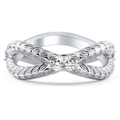 custom garland cross over wedding ring brilliant earth