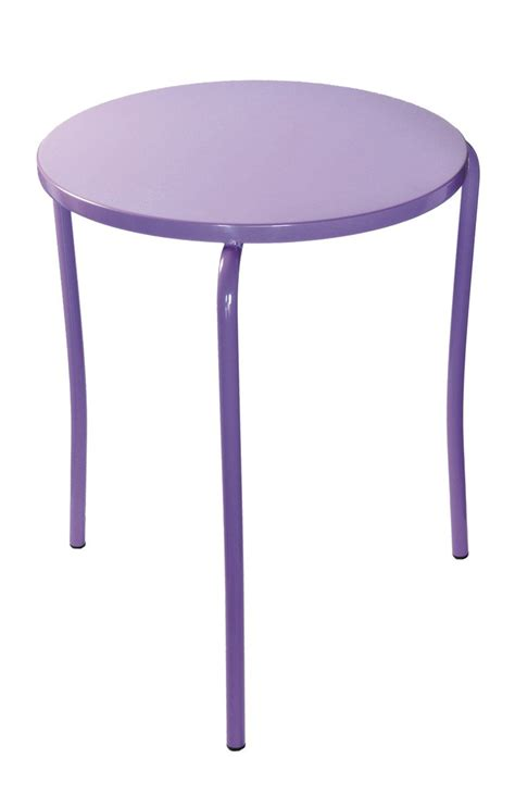 stackable garden side table iron by gaber