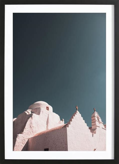 Greece Xxxi Poster In Wooden Frame Juniqe Uk