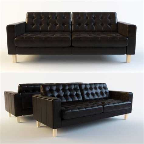 Ikea Karlstad Leather Sofa Leather Faux Couches Chairs