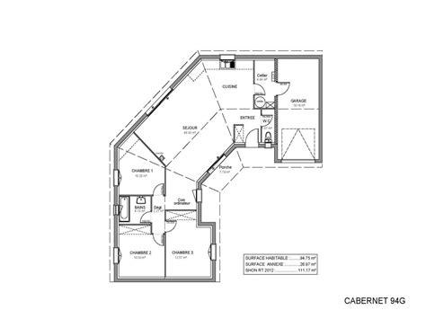 plan maison en l 4 chambres chambre plan maison 4 chambres plan maison 150m2 4