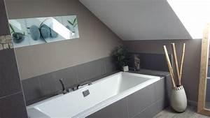 bricolage de l39idee a la realisation salle de bain zen With salle de bain design avec décoration murale chambre bébé pas cher