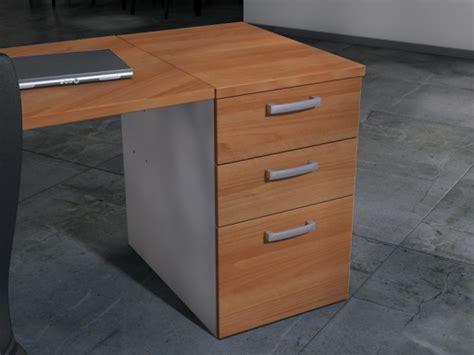 bureau caisson caisson hauteur bureau 3 tiroirs bicolore pas cher