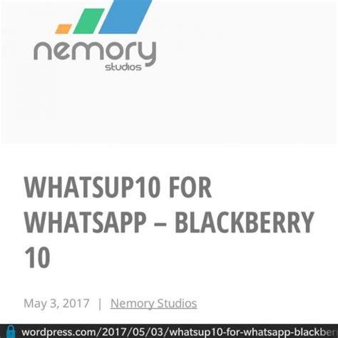 sai sekarang pengguna blackberry masih bisa whatsapp