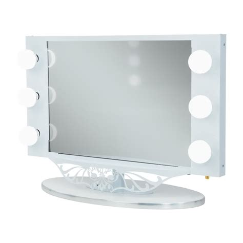 Vanity Lighted Mirrors - starlet lighted vanity mirror in simple frame design