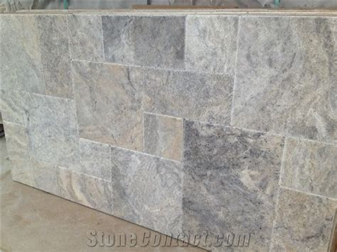 Silver Travertine Tumbled Pattern Set from Turkey 241406