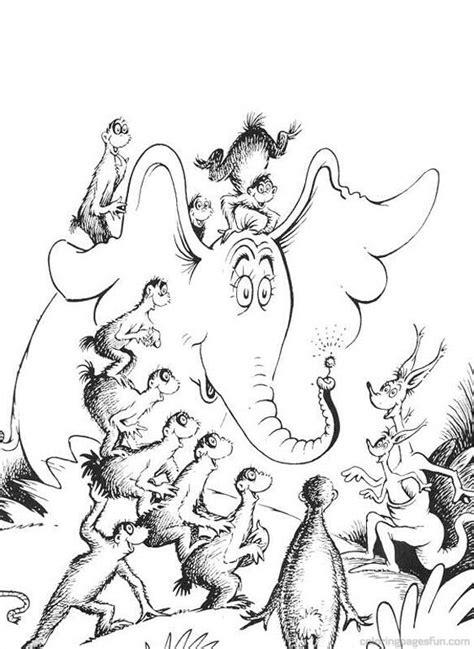Dr. Seuss Coloring Pages   Dr. Seuss Horton Coloring Pages