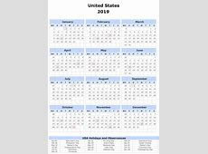 2019 Yearly Calendar For Word Free Printable 2018