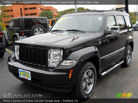 black jeep liberty interior brilliant black crystal pearl 2008 jeep liberty sport