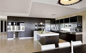 Modern Kitchen Design with Wooden Kitchen Island with ...