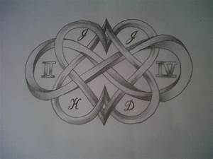 hearts and infinity sign tattoo design by tattoosuzette on ...