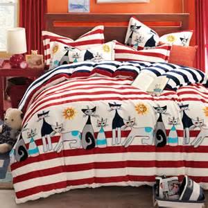 cat comforter sets kids bedding set anime bed sheets striped bed linen funda nordica comforters