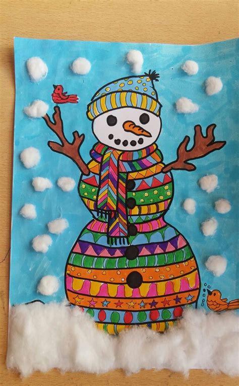 snowman craft  kids preschool  kindergarten