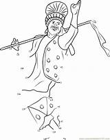 Punjabi Bhangra Dance Clipart Dots Connect Pages Worksheet Cliparts Dot Coloring Clip Sikhism Sketch Printable Template Library Email Hd sketch template