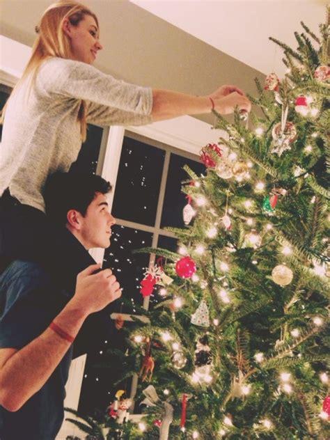 love christmas couple girlfriend boyfriend christmas tree