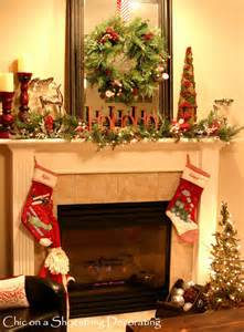 chic on a shoestring decorating sprucin up my christmas mantel on the cheap