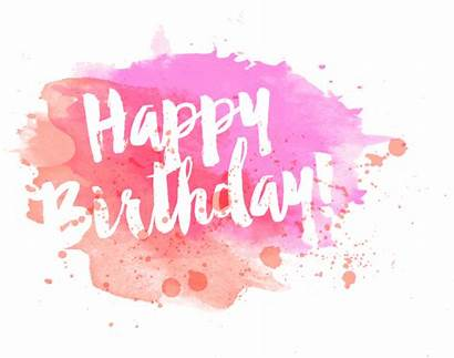 Birthday Happy Quotes Watercolor Words Sayings Transparent