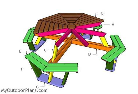building  octagonal picnic table plans tables picnic