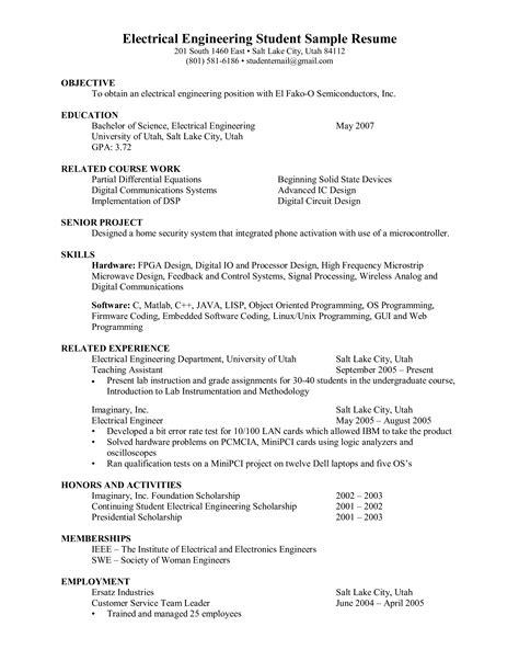 electrical engineer fresher resume   create
