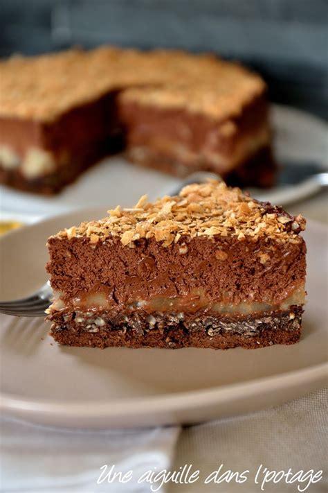 cuisiner pois gourmands gâteau entremet mousse chocolat poire noisettes oeufs