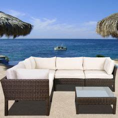 mill valley 4 patio sectional set with parchment