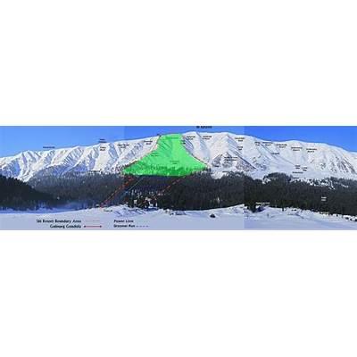 Gulmarg Ski Resort Map & Trailmaps. Skiing Kashmir