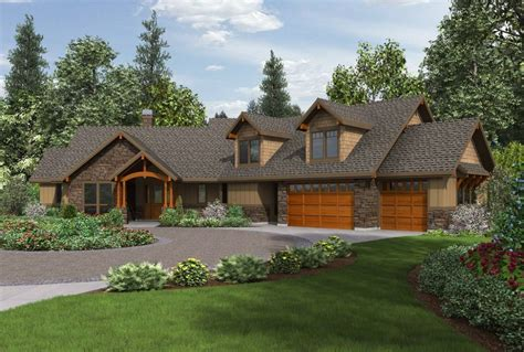 Walk Out Ranch House Plans by Craftsman Ranch House Plans With Walkout Basement