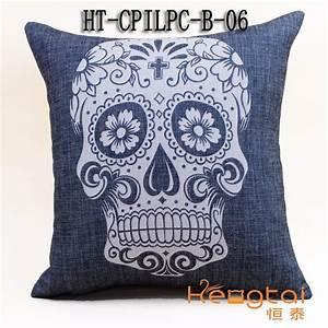 sofa cushion digital skull print photo custom custom With custom pillow manufacturers usa