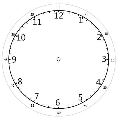 Printable Clock Face In Cluding Clock Hands