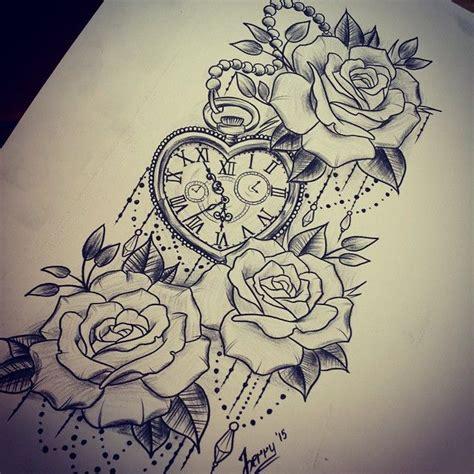 late night sketch tattooidea rosetattoo watchtattoo femeninetattoo tattoodesign