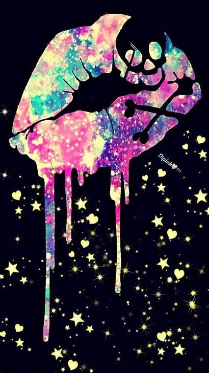 Skull Wallpapers Girly Galaxy Lips Dope Glitter