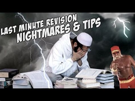 last minute revision nightmares tips ᴴᴰ must