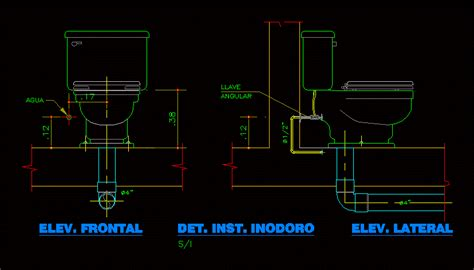 detalle inodoro en autocad descargar cad  kb