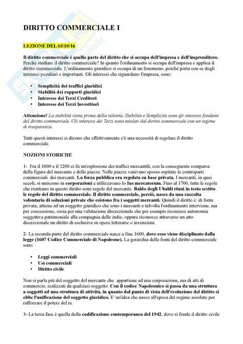 Dispensa Diritto Commerciale by Concetti Basilari Esame Appunti Di Diritto Commerciale
