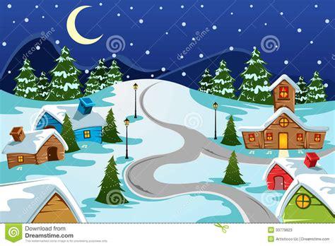 winter village stock vector illustration  festive