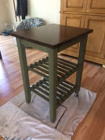 IKEA kitchen cart makeover. Annie Sloan chalk paint and