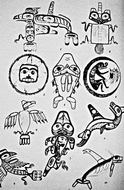 Photo: Haida Tattoo Designs reproduced in John R. Swanton's book, 1905 in 2019 | Art, Native art