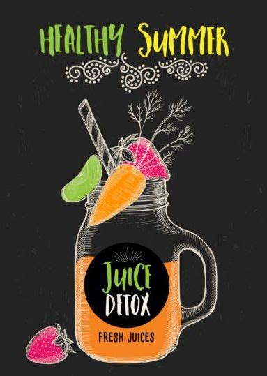 juice detox hand drawn vector material  vector food